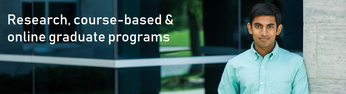 Research, course-based, and online graduate programs are offered.